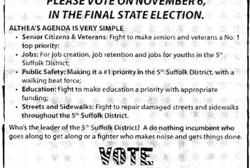 Dorchester Reporter runs negative ad from Althea Garrison