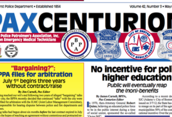 Full letter: Jim Carnell of Pax Centurion & Boston Police Union to Boston Phoenix