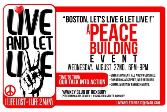 Live and Let Live – A Peace Building Event