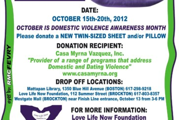 3rd Annual Bedding Drive for Domestic Violence Awareness