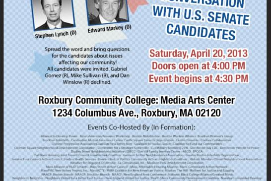 Mass Vote – US Senate Candidates forum 4/20