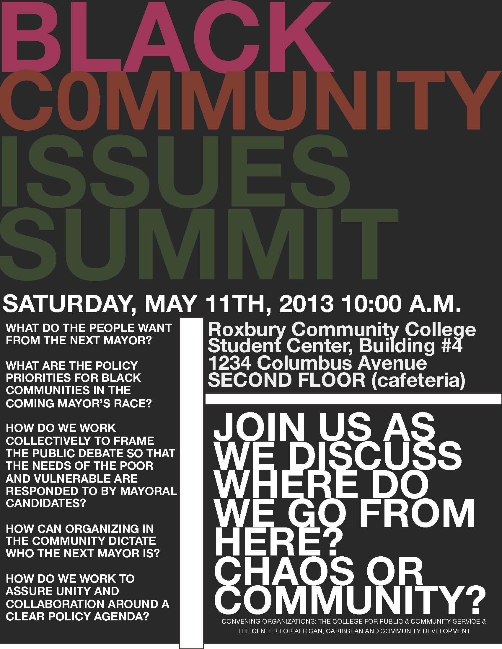 Black Agenda Summit May 11