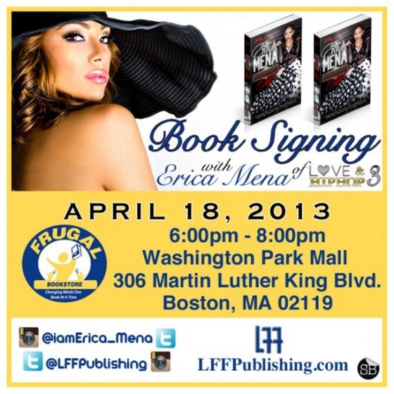 Erica Mena Frugal Book Signing