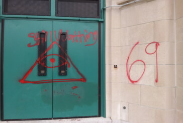 Boston Latin Academy vandalized with strange graffiti