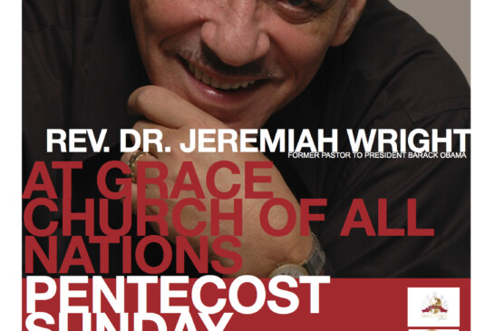 Rev. Jeremiah Wright in Boston Sun. 5/19