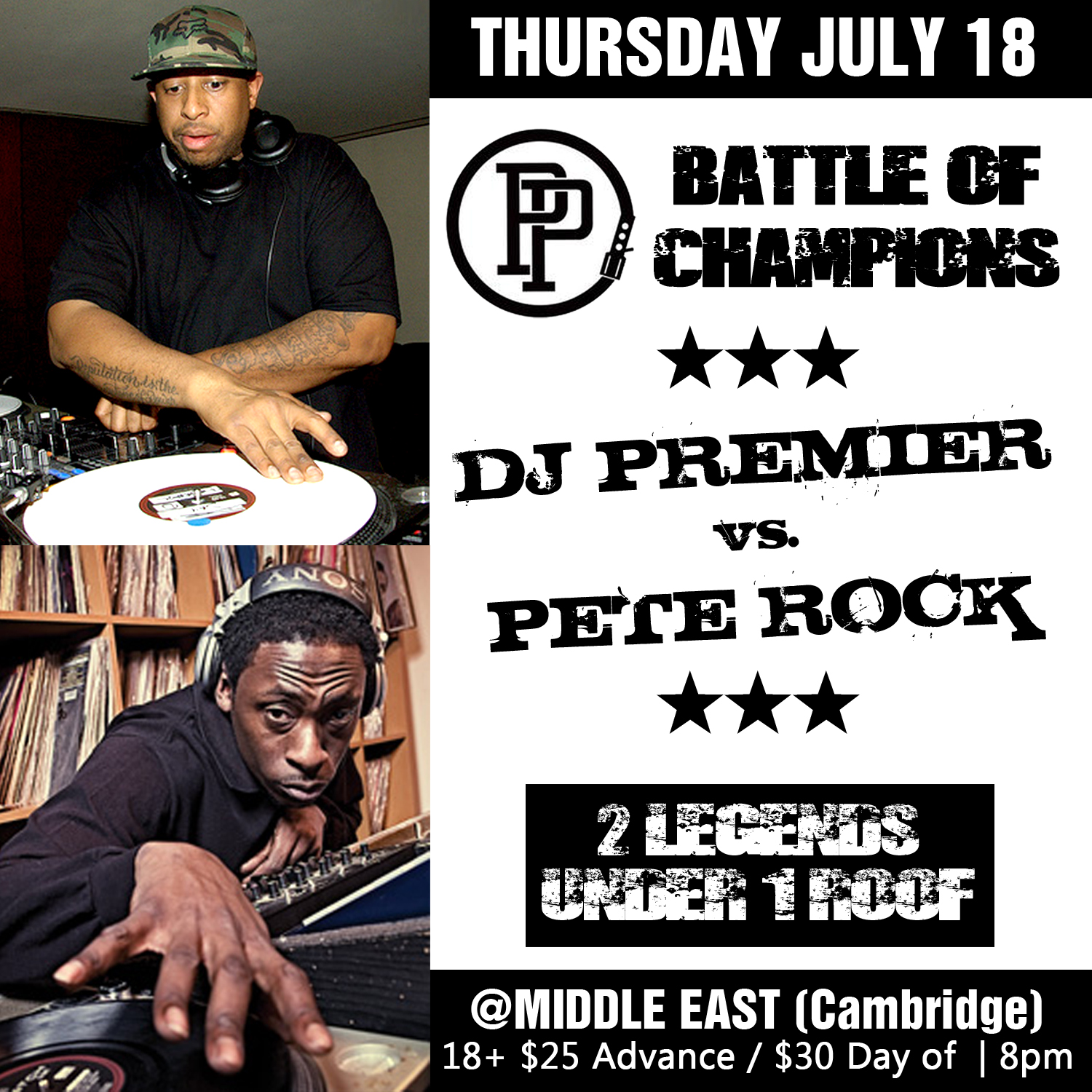 DJ Premier vs. Pete Rock - Middle East July 18