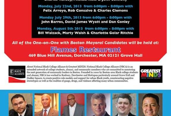 GREATEST MINDS Mayor's Race Community Forums July/Aug