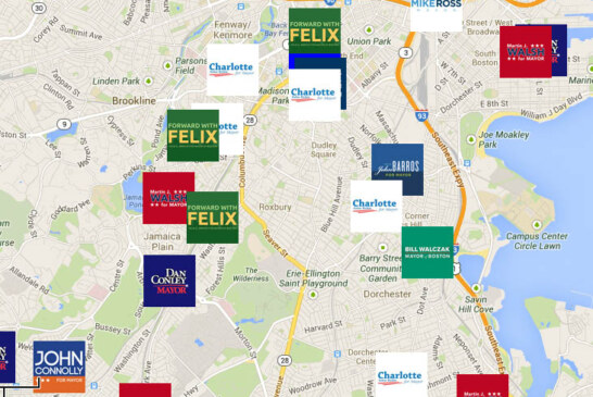 2013 Boston Mayor Race – Campaign Office Map