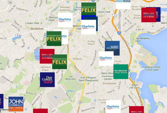 2013 Boston Mayor Race – Campaign Office Map