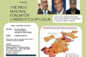 Candidates of Color Mayoral Forum Tue. 9/10