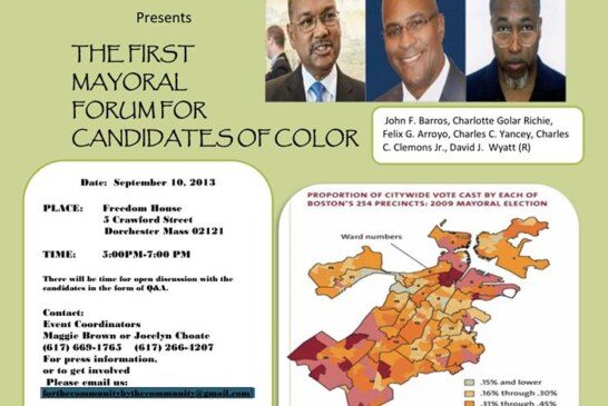 VIDEO: Candidates of Color Forum 9-10-2013
