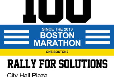 CITY HALL RALLY: 100 Shootings since Marathon – #OneBoston ? #BostonStrong ?