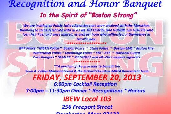Urban Public Safety Alliance – Recognition and Honor Banquet 9/20
