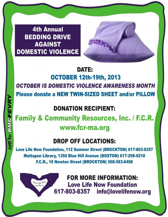 Bedding Drive Flyer 2013