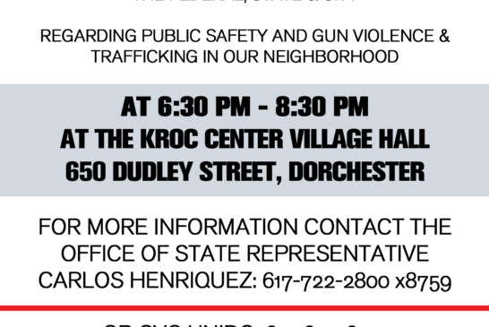 State Rep Convenes Community Meeting on Public Safety, Gun Violence and Trafficking