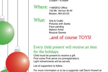 5th DRIVE / Boston 5th Annual Toy Drive