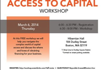 Councillor Jackson hosts Access to Capital Workshop for Local Businesses; Entrepreneurs
