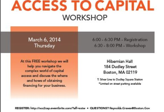 Access To Capital Workshop – March 6