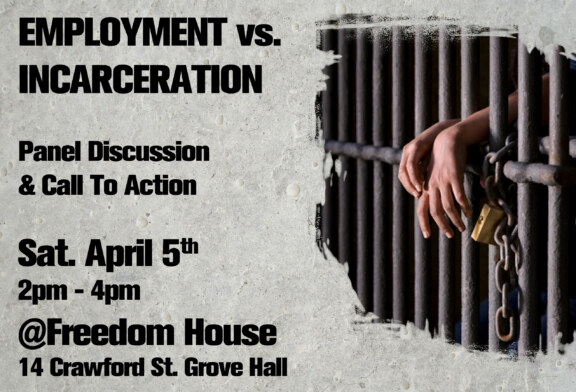 Jobs Not Jails – Community Town Hall Forum Sat. April 5