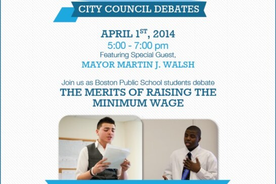 Councillor Yancey Hosts Boston Debate League April 1