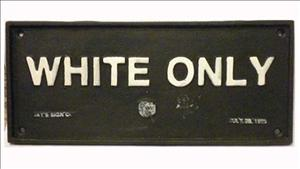 White-Only-Sign