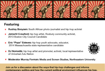 Hip-Hop Art, Politics, Activism Discussion Wed. 10/1