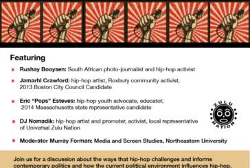 Hip-Hop Art, Politics, Activism Discussion Wed. 10/1