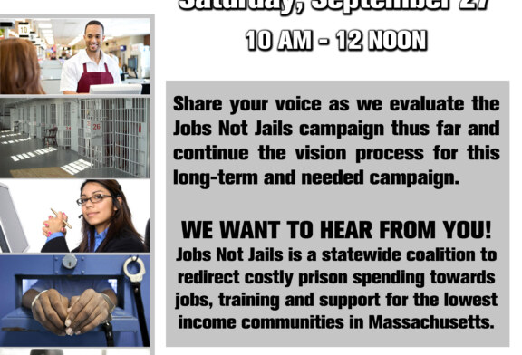 Jobs Not Jails Reconvening Meeting Sat. 9/27