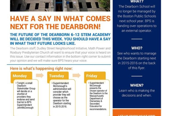 Have A Say At What Happens With Dearborn School
