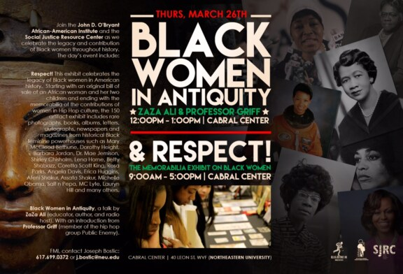"Prof. Griff & ZaZa Ali ""Black Women in Antiquity"" NEU 3/26"