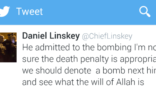 """Former BPD Chief Linskey invokes """"The Will Of Allah"""" On Twitter"""