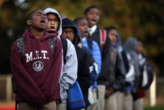 Greet the children /1st day of school – Boston (Roxbury/Dorchester)