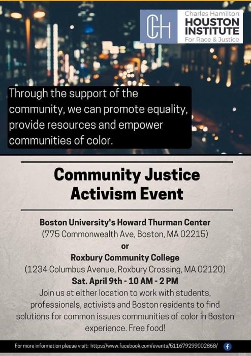 Community Justice event