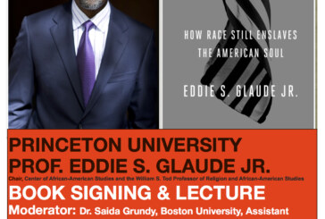 A Conversation With Eddie Glaude, Thursday Oct. 13, 6:00 PM