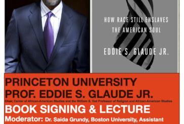 A Conversation With Eddie Glaude, Thursday Oct. 13, 6:00 PM