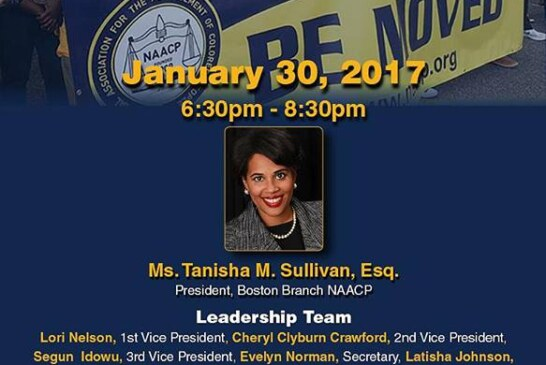 Boston Branch NAACP General Meeting Jan. 30
