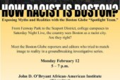 How Racist Is Boston? NE Univ. Forum – Feb. 12