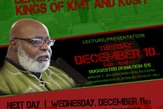 "Dr. Runoko Rashidi ""Black Men of the Nile: Kings of KMT & KUSH"" DEC. 10, 2019"