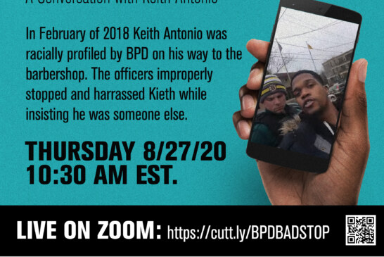"""BPD Stop & Harass – A Conversation with Keith AKA """"Kevin"""""""