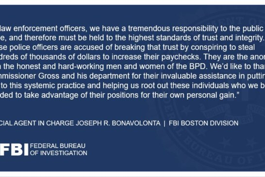9 Boston Police Officers Arrested by FBI for Overtime Fraud Scheme