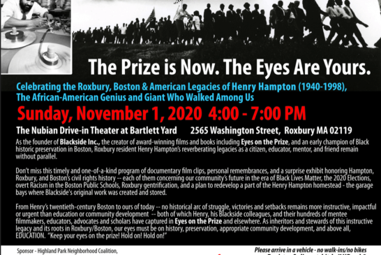Celebrating the Legacy of Henry Hampton (1940-1998) Nov. 1st 4PM